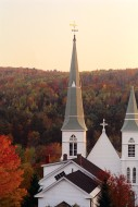 Church Steeples in Autumn
